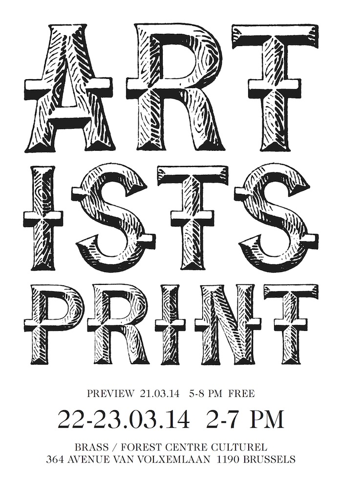 artists print III - independent art book fair in Brussels